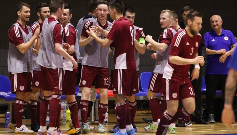 Latvijas U-19 telpu futbolisti atkārtoti zaudē Krievijas vienaudžiem