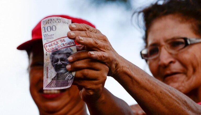 Venecuēlā aizturēti simtiem valūtas 'spekulantu'