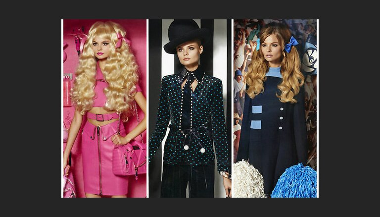 Модели как Барби: кукольная фотосессия для журнала Vogue