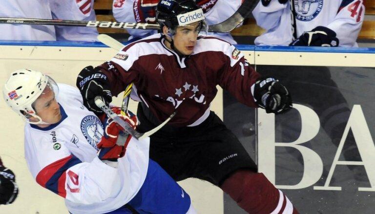 Veiksmīga spēle vairākumā atnes Latvijai uzvaru pār Norvēģiju