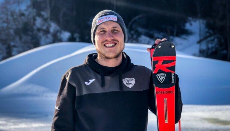 Miks Zvejnieks izcīna Latvijas čempiona titulu milzu slalomā