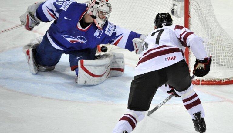 Latvija ar uzvaru pār Franciju sper soli pretī vietas saglabāšanai elitē