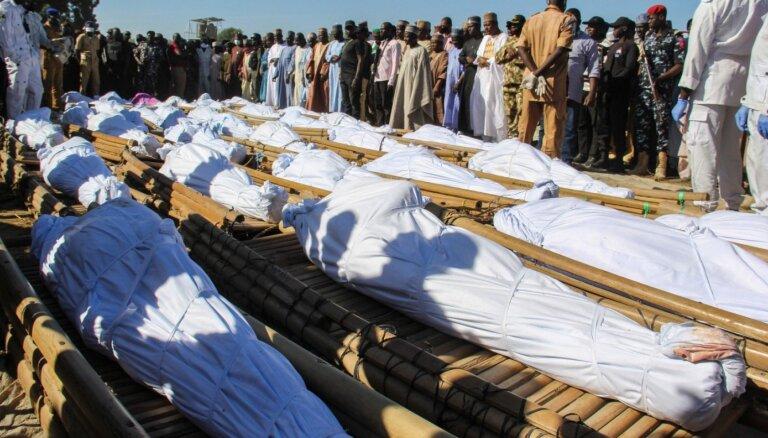 Nigērijā 'Boko Haram' uz laukiem noslaktējuši vismaz 110 rīsu audzētāju