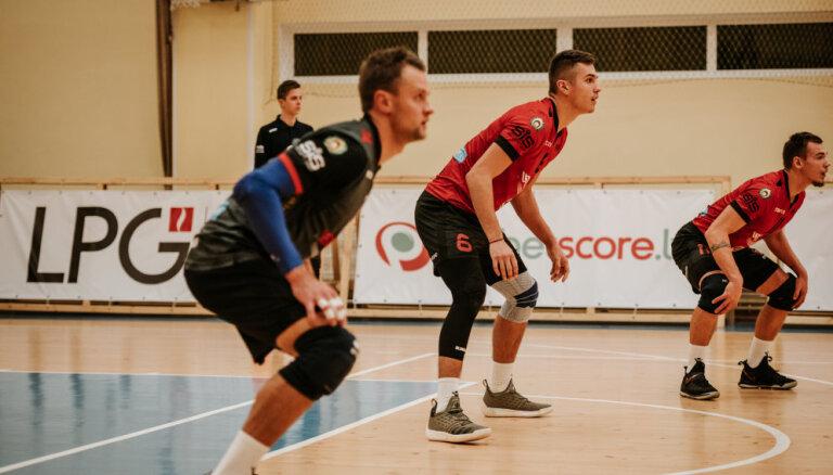 'Limbaži/MSG' volejbolistiem zaudējums trīs setos sāmsaliešiem