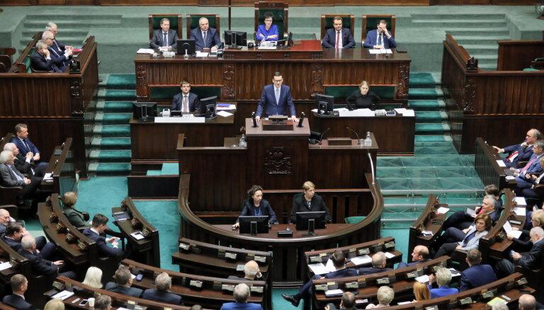 Сейм Польши осудил высказывания Путина о начале Второй мировой войны