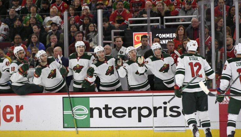 Stāla 1000. punkts NHL neglābj 'Wild' no zaudējuma