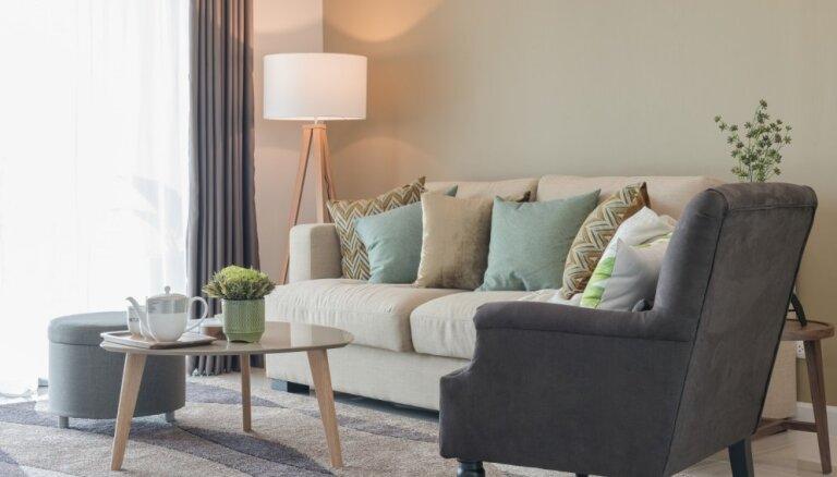 Iekārtojam dzīvojamo istabu: 11 dizainera padomi telpas labiekārtošanai