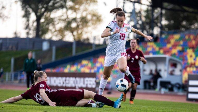 Sieviešu futbola izlase EČ atlases turnīrā atkārtoti zaudē Ungārijai