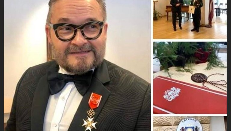 Историку моды Александру Васильеву вручен орден за особые заслуги перед Латвией