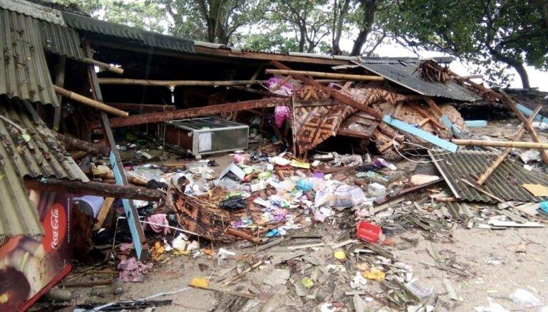 Indonēzijā cunami upuru skaits pārsniedzis 370 cilvēkus