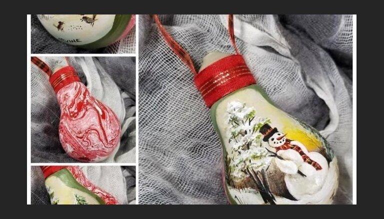 Foto: Kanādiešu mākslinieks izdegušas spuldzītes pārvērš pasakainos mākslas darbos