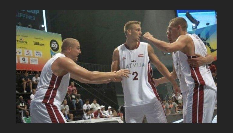 Latvijas 3x3 basketbola izlases spēlētāji sasnieguši Eiropas kausa izcīņas finālu