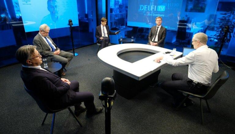 'Delfi TV ar Jāni Domburu' diskusija 'Covid-19 ierobežojumi un atvieglojumi: par un pret'. Pilns ieraksts