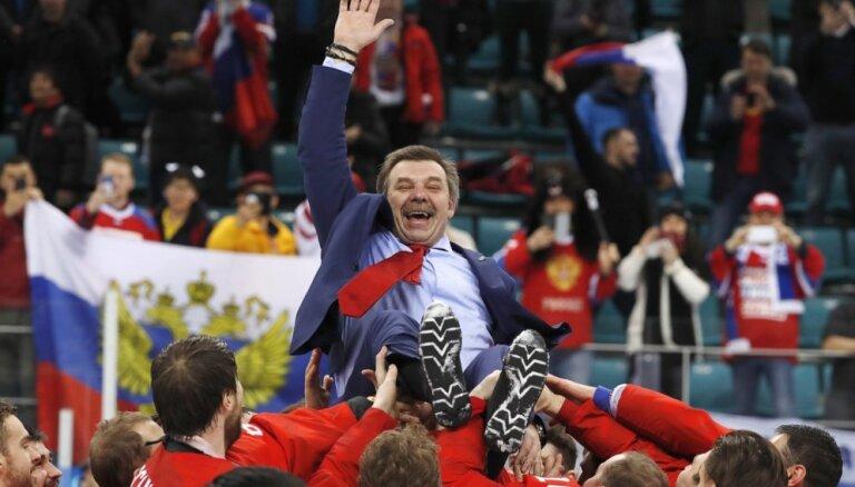 ФОТО: Эмоции российских хоккеистов после победы в финале над немцами