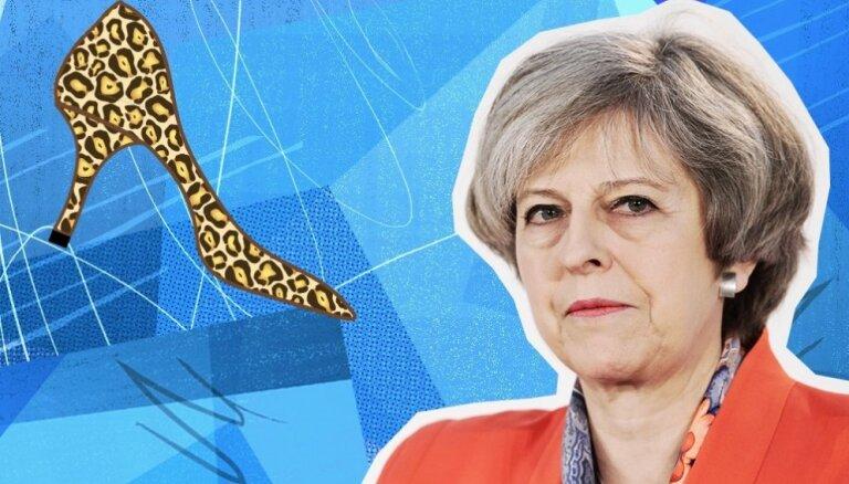 Britu premjere Meja: 'Brexit' seja, kas mīl skaistas kurpes un pavārmākslu