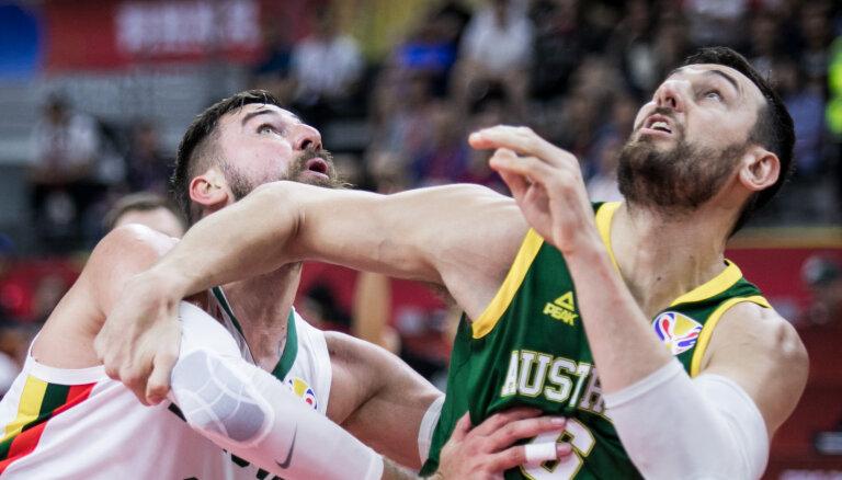 Austrālija aptur Lietuvas basketbolistu centienus; Adetokunbo 'velk' Grieķiju