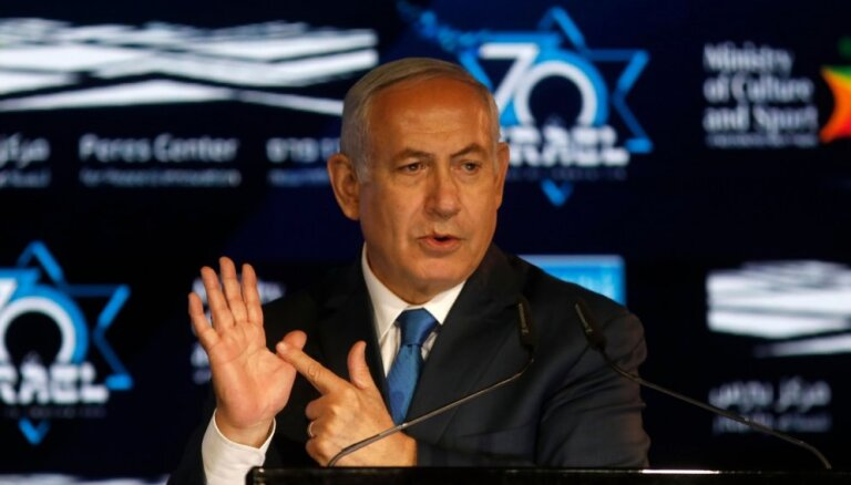 'Priekšvēlēšanu paranoja': Netanjahu apsūdz Izraēlas prezidentu un partijas biedrus sazvērestībā