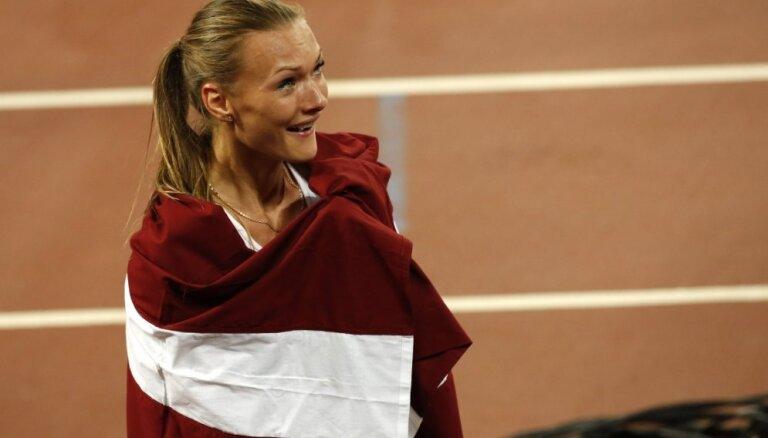 Ikauniece-Admidiņa ar jaunu Latvijas rekordu izcīna otro vietu sacensībās Gecisā