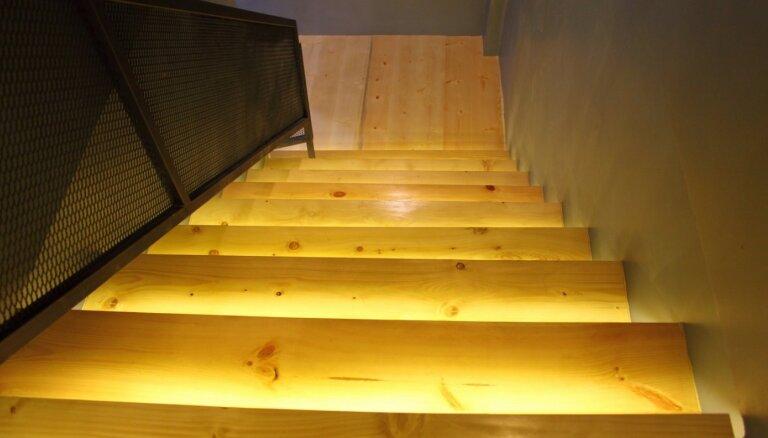 Sešas interesantas idejas kāpņu izgaismošanai