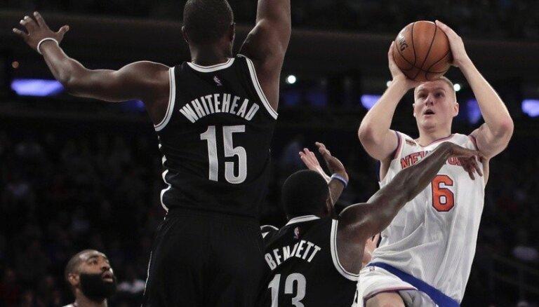 Porziņģim un Bertānam 12 un desmit punkti uzvarētās NBA pārbaudes spēlēs