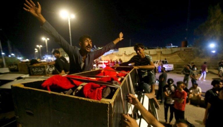 Ugunsgrēkā Covid-19 slimnīcā Irākā vismaz 60 bojāgājušie