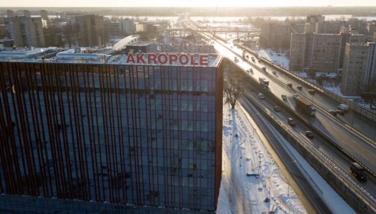 ВИДЕО: В торгово-развлекательном центре Akropole прорвало трубу и затопило магазин