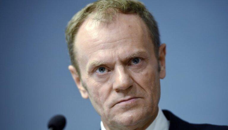 Tusks raisa šaubas par 'Breksita' pārejas posma vienošanos