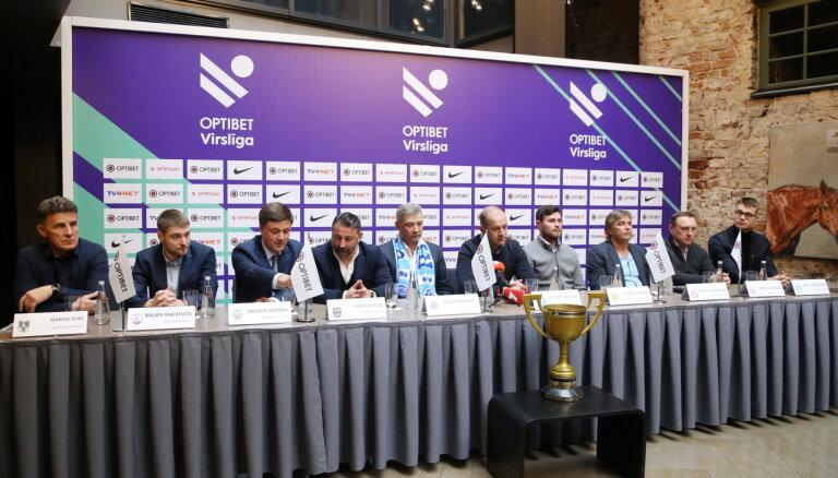 Latvijas futbola virslīgas komandu pārstāvji sagaida aizraujošu un neparedzamu sezonu
