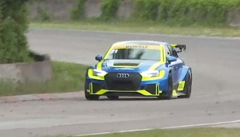 Video: Timrots uzstāda personīgo rekordu ar TCR klases 'Audi' Biķernieku trasē
