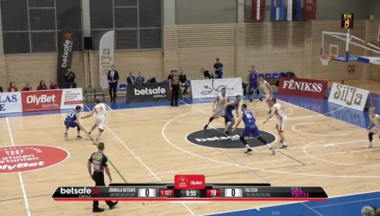 'OlyBet' basketbola līga: 'Betsafe/Jūrmala' - 'Tal Tech'. Pilns ieraksts