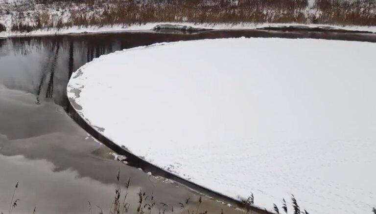 Vigalas upes ledus karuselis