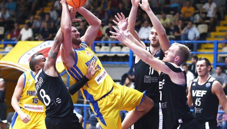 'VEF Rīga' neizdodas pakaļdzīšanās Čempionu līgas mačā Grieķijā