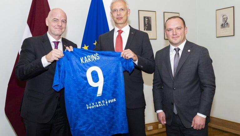 FIFA un LFF prezidenti tiekas ar Ministru prezidentu Krišjāni Kariņu