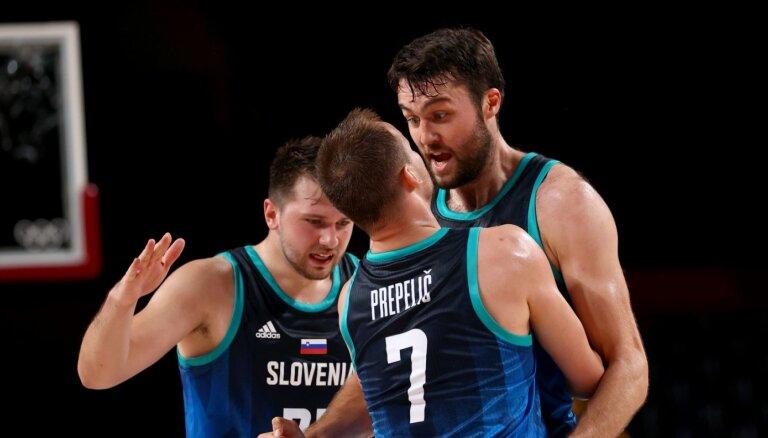Dončiča likstas neliedz Slovēnijai grupas līderu duelī pieveikt Spāniju