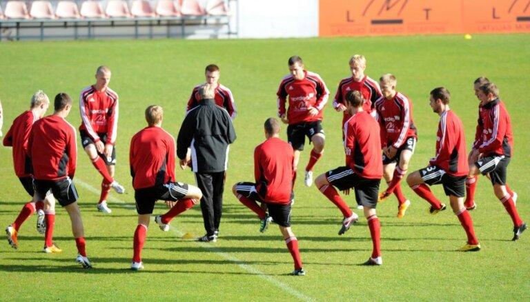 Latvijas futbolisi uzsāk gatavošanos Baltijas kausam