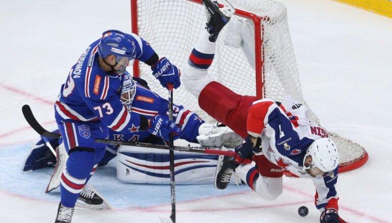 CSKA arī otrajā Gagarina kausa izcīņas Rietumu konferences fināla spēlē uzvar SKA
