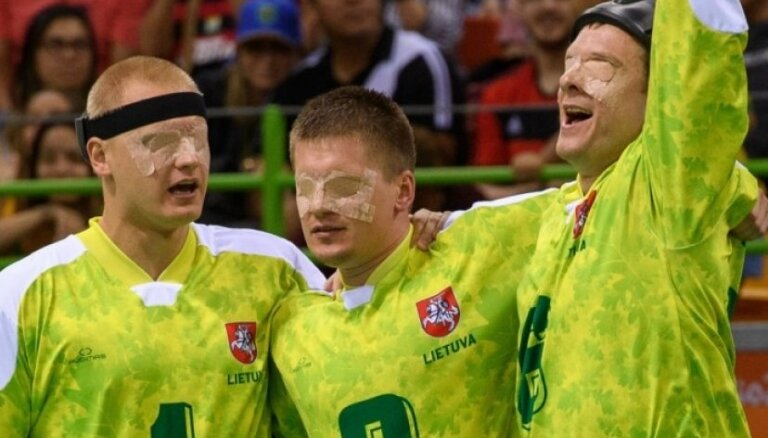 Lietuvas golbola izlase triumfē Rio paralimpiskajās spēlēs