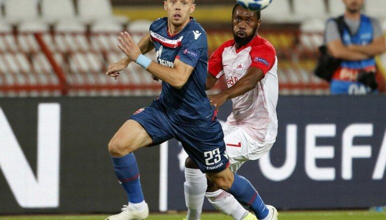 Belgradas 'Crvena Zvezda' pirmoreiz iekļūst UEFA Čempionu līgas grupu turnīrā