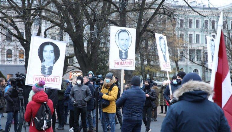 В Риге прошла вторая акция протеста против ограничений, связанных с Covid-19 (ДОПОЛНЕНО)