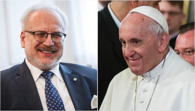 Levits tiksies ar pāvestu Francisku