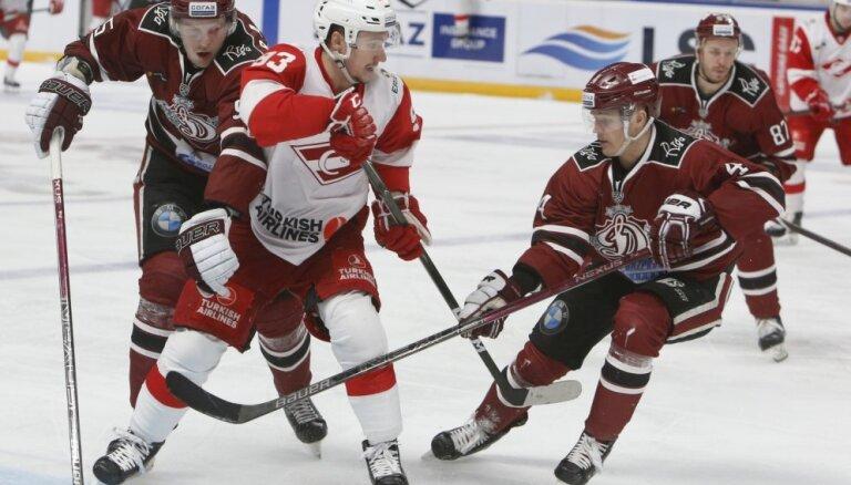 Rīgas 'Dinamo' jauno KHL sezonu sāks ar cīņu pret Daugaviņa un Karsuma Maskavas 'Spartak'