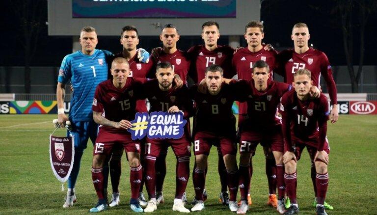 Zināms Latvijas futbola izlases spēļu kalendārs 'Euro 2020' atlasē