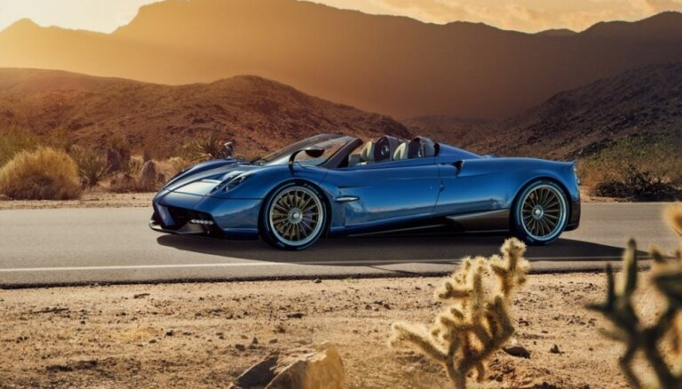 Līdz šim sarežģītākais 'Pagani' superauto – 'Huayra' rodsters