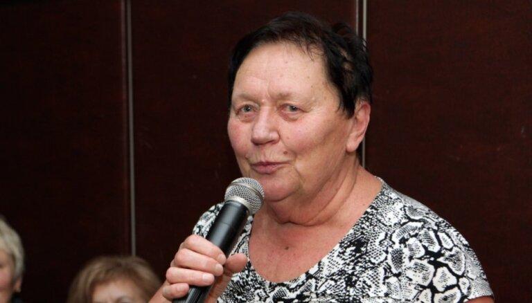 'Dzeguzīte' vadītājai Dailai Martinsonei - 75