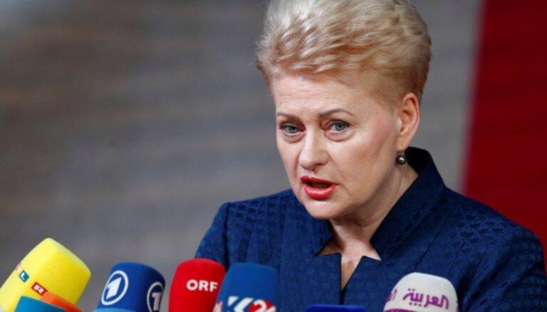 Grībauskaite: Premjers apkaunojis Lietuvu starptautiskā mērogā