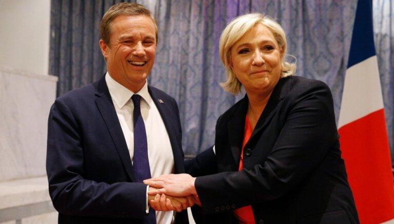 Lepēna premjera amatam izraudzījusies eiroskeptiķi un savu konkurentu Diponu-Enjānu
