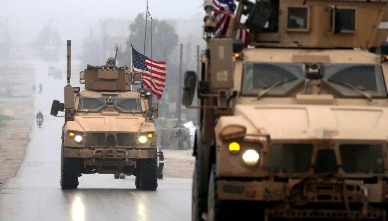 ASV spēki tiekot savilkti pie Sīrijas austrumu robežas