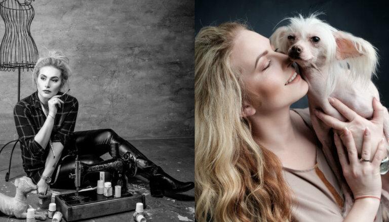 Pirms un pēc: pašmāju slavenības neparastā fotoprojektā attēlo dzīvi ar mājas mīluli