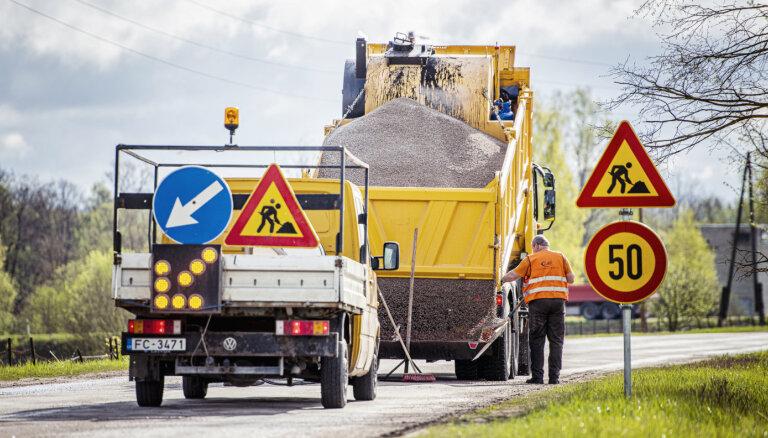 Pabeigts bedru masveida remonts asfaltētajiem valsts autoceļiem ar B uzturēšanas klasi