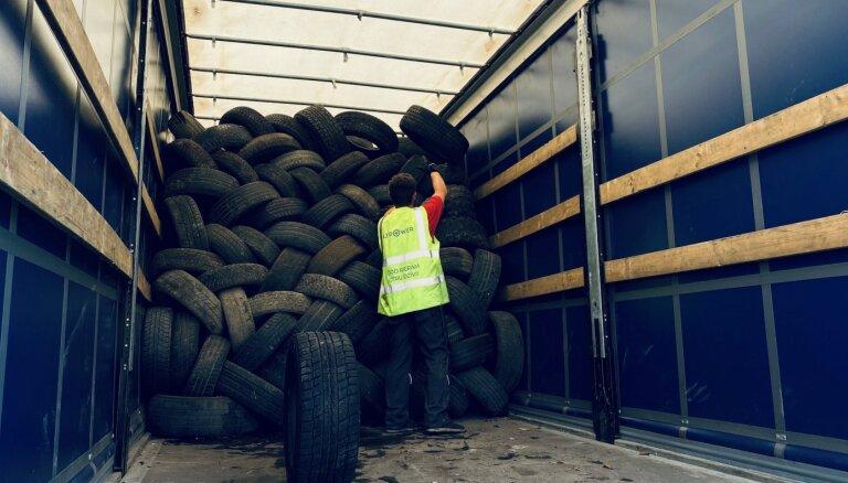 Ceļu būvnieki cerīgi raugās uz lietoto riepu izmantošanu ceļu seguma ražošanā